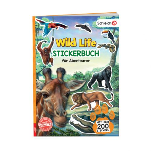SCHLEICH® Wild Life. Stickerbuch für Abenteurer