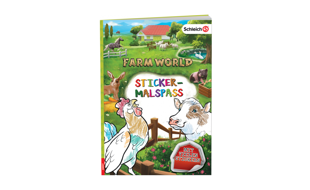 Farm World Sticker Malspaß