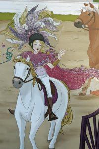 Sofia mit Kostüm auf Blossom